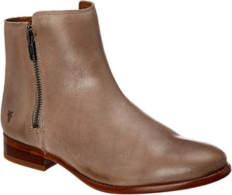 Frye Carly Double Zip Leather Bootie