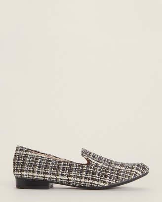 Karl Lagerfeld Paris Black & White Brynn Boucle Loafers
