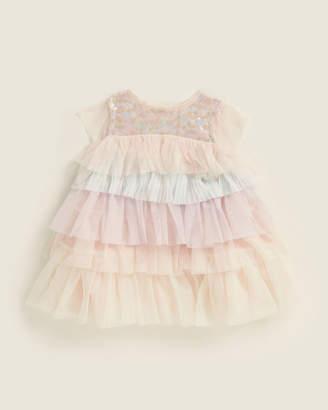 Billieblush (Newborn/Infant Girls) Sequin Tier Ruffle Dress