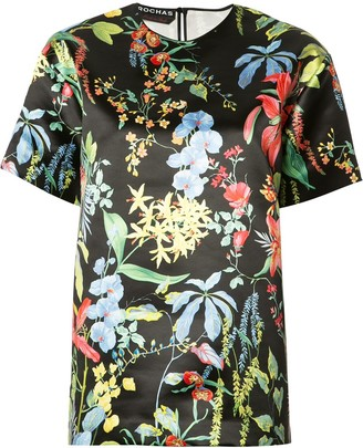 Rochas Floral Print Blouse