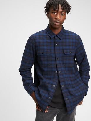 Gap Flannel Shirt Jacket