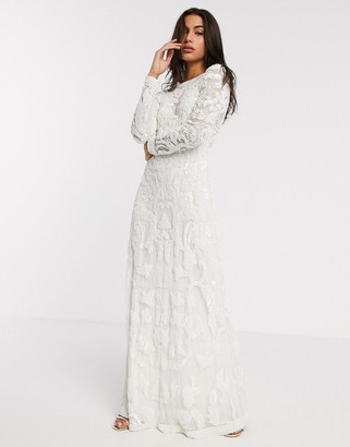 ASOS EDITION Alice beaded placement wedding dress