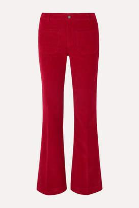 Vanessa Bruno Dompay Stretch-cotton Corduroy Wide-leg Pants - Red