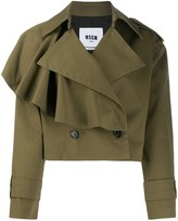 MSGM asymmetric ruffled detail jacket