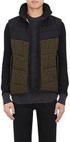 Rag & Bone Men's Auden Quilted Tweed Vest-DARK GREEN