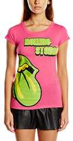 Rolling Stones Women's Green Tongue Short Sleeve T-Shirt,(Manufacturer Size:Small)