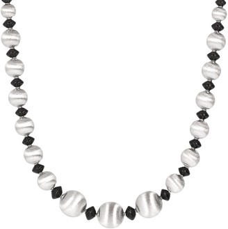 "Argento Arte D'argento Arte D' Graduated Satin Bead & Gemstone 18"" Necklace"