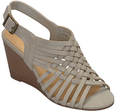 City Classified Gray Tender Wedge Sandal