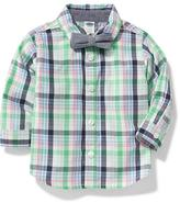 Old Navy Plaid Shirt & Bow-Tie Set for Baby
