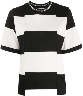 Stella McCartney stripe panel short-sleeved T-shirt