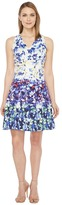Maggy London Pansy Meadow Stripe Cotton Fit and Flare Dress