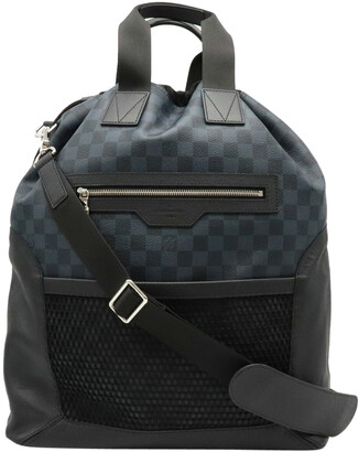 Louis Vuitton Damier Cobalt Canvas Matchpoint Hybrid Backpack
