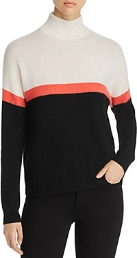 Bloomingdale's C by Color-Block Mock Neck Cashmere Sweater - 100% Exclusive