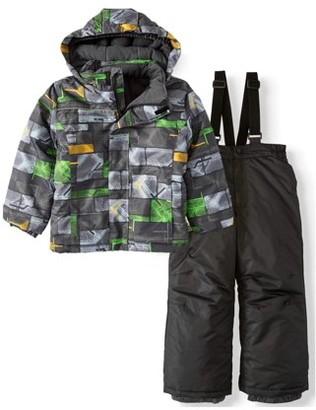 Iceburg Edge Set 2 Piece Snow Suit Insulated Jacket and Snowsuit/Ski Bib (Little Boys)