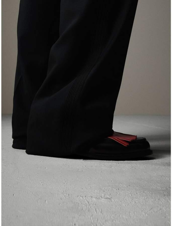 Burberry English Wool Mohair Barathea Tuxedo Trousers