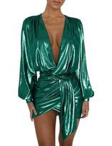 Mealiya MEALIYA Women's Long Sleeve Dress Sexy Party Mini Night Bodycon Clubwear Dresses Green