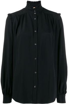 No.21 ruffle neck shirt
