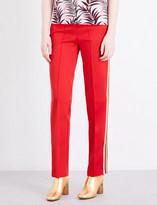Sandro Striped neoprene trousers