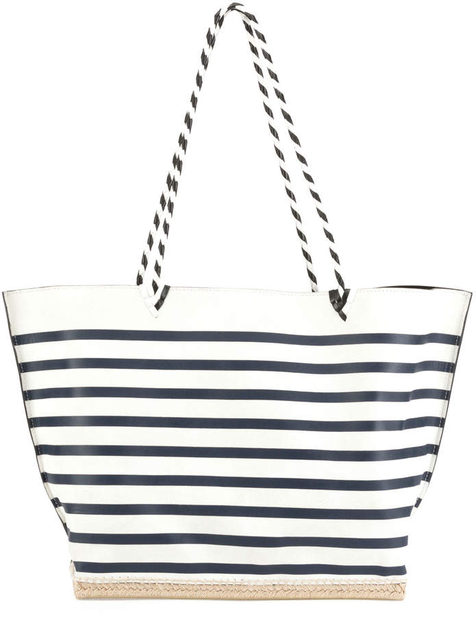 464db527 White And Blue Striped Handbags - ShopStyle