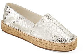 Jack Rogers Women's Palmer Croc-Embossed Espadrille Flats