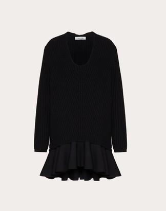 Valentino Wool Sweater Women Black Virgin Wool 100% S
