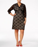 Charter Club Plus Size Lace Sheath Dress, Only at Macy's