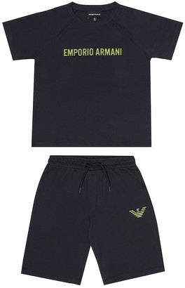 Emporio Armani Kids Cotton T-shirt and shorts set