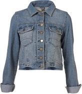 Topshop MOTO Bleach Wash Western Style Denim Jacket