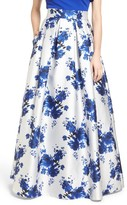 Eliza J Women's Floral Mikado Ball Skirt