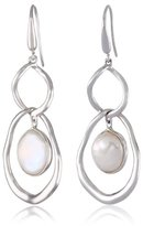 Honora Cloud White Freshwater Cultured Pearl Link Dangle Drop Earrings