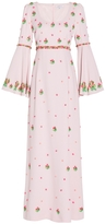 Andrew Gn Woven Bell Sleeves Dress