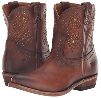 Frye Billy Stud Short (Cognac Washed Antique Pull-Up) Women's Boots