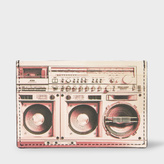 Paul Smith Men's Black Leather 'Boom Box' Print Credit Card Holder