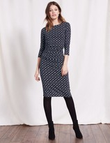 Boden Boatneck Ruched Dress