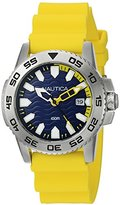 Nautica Men's NAD12530G NSR 20 Analog Display Quartz Yellow Watch