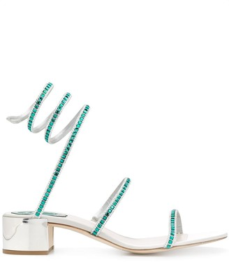 Rene Caovilla Crystal Strappy Sandals
