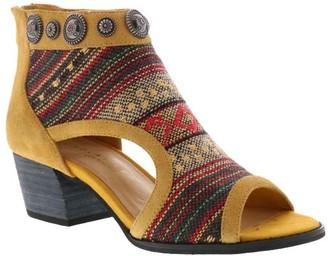 Volatile Women's Casual boots MUSTARD - Mustard Geometric Open-Toe Jewelle Leather Bootie - Women