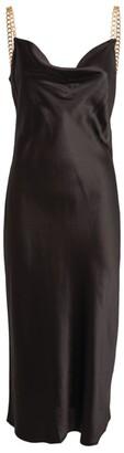 Olivia von Halle Silk Bibi Chain Strap Slip Dress