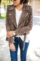 Ily Couture Brown Suede Jacket