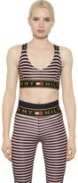 Tommy Hilfiger Collection Striped Microfiber Sports Bra Top
