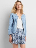 Gap TENCEL quilted bomber jacket