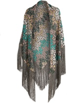 Missoni Embroidered-knit scarf