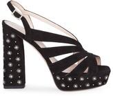 Roger Vivier Twinkle Star Suede Platform Sandals