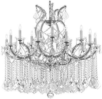 Theresa Harrison Lane Maria Crystal Chandelier for Dining Room, Entryway, Living Roo