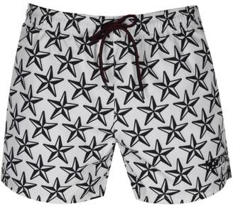 HUGO BOSS Saint Lucia Star Print Swim Shorts White