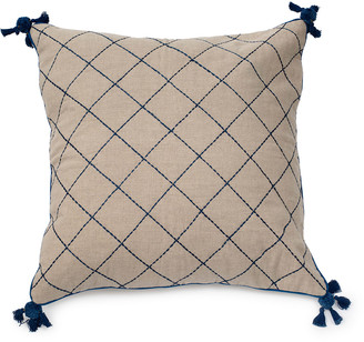 Joanna Buchanan Natural Linen Quilted Tassel Pillow