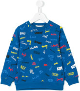 Stella McCartney embroidered name sweatshirt - kids - Cotton - 4 yrs