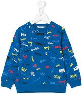 Stella McCartney embroidered name sweatshirt - kids - Cotton - 8 yrs