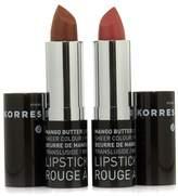 Korres Mango Butter Moisture-Rich Lipstick Duo