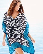 Soma Intimates Zebra Tunic Cover Up Mare/White